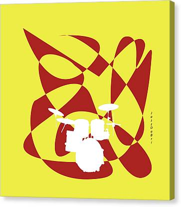Drums In Yellow Strife Canvas Print