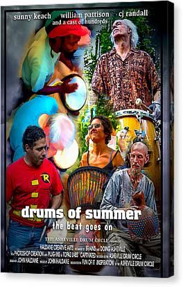 Drums Of Summer Canvas Print by John Haldane