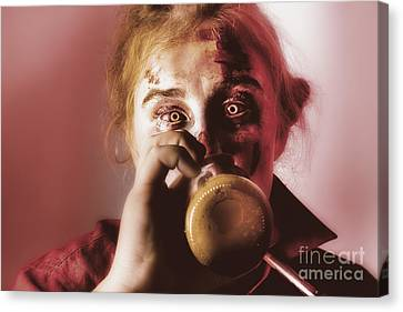 Tankard Canvas Print - Drunk Ghoul Sculling Beer At Halloween Party by Jorgo Photography - Wall Art Gallery