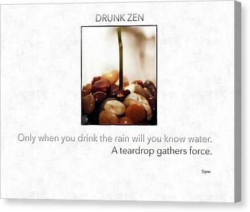 Parable Canvas Print - Drunk Zen  by Steven Digman