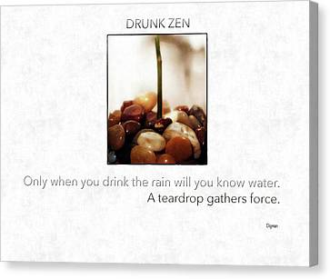 Drunk Zen  Canvas Print by Steven Digman