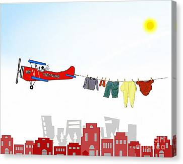 Dry Cleaning Canvas Print
