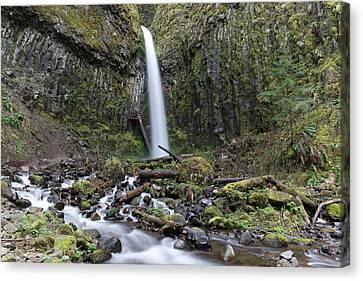 Falling Water Creek Canvas Print - Dry Creek Falls by Jeff Swan