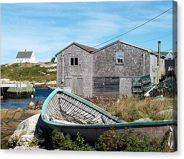 Dry Dock At Peggy's Cove Canvas Print by Richard Mansfield