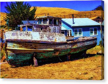 Dry Dock Black Pearl Canvas Print