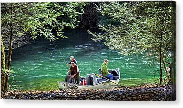 Dry Fly Anticipation Canvas Print by Karen Wiles
