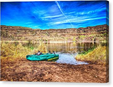 Dry Lake Recreation Canvas Print by Spencer McDonald
