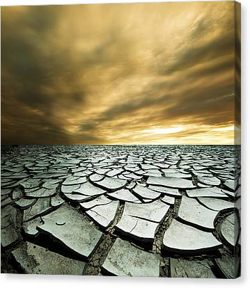 Asia Canvas Print - Dry Lowlands by Zarija Pavikevik