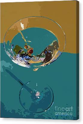 Dry Martini Canvas Print by David Lloyd Glover