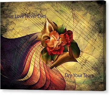 Dry Your Tears Vintage Romance Canvas Print by Georgiana Romanovna