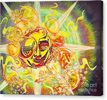2015 Cbs Sunday Morning Sun Art-solar Flares Canvas Print