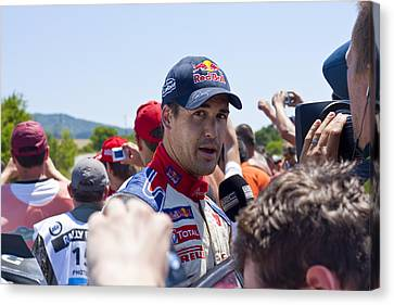 D.sordo 2 Minutes After The Finish Canvas Print by Boyan Dimitrov