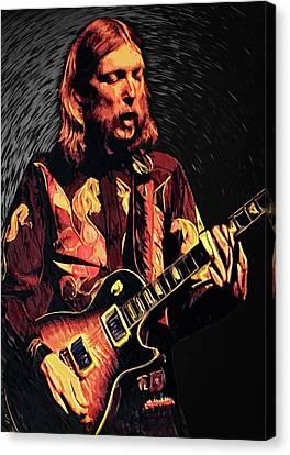Hendrix Canvas Print - Duane Allman by Taylan Apukovska