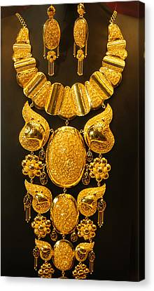 Dubai Gold Jewelry Canvas Print by Art Spectrum