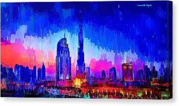 Dubai Skyline 100 - Pa Canvas Print