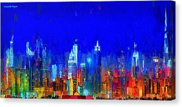 Dubai Skyline 50 - Da Canvas Print