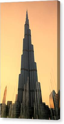 Khalifa Canvas Print - Dubai Sunset by Stephen Stookey