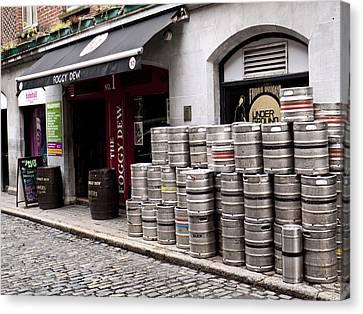 Dublin Beer Kegs Canvas Print by Rae Tucker