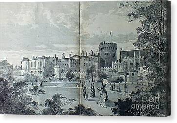 Dublin Castle 1850 Canvas Print
