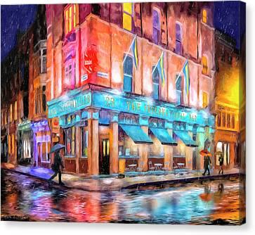 Dublin In The Rain Canvas Print by Mark Tisdale