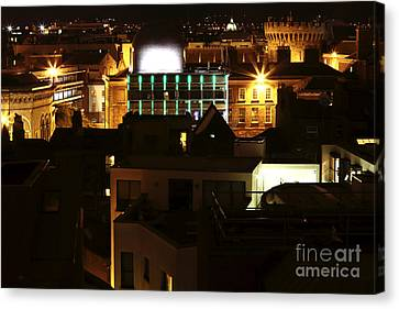 Dublin Building Colors Canvas Print - Dublin Night Colors by John Rizzuto