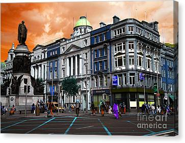 Dublin Building Colors Canvas Print - Dublin Pop Art by John Rizzuto