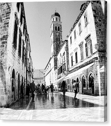 Canvas Print - #dubrovnik #b&w #edit by Alan Khalfin