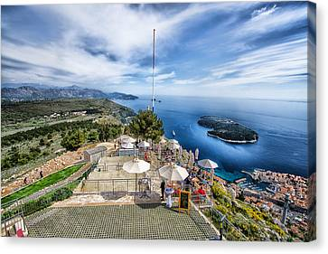 Dubrovnik Croatia - Lovely Cafe Up On Srd Hill Canvas Print