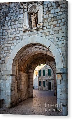 Dubrovnik Entrance Canvas Print by Inge Johnsson