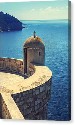 Dubrovnik Fortress Wall Tower Canvas Print by Sandra Rugina