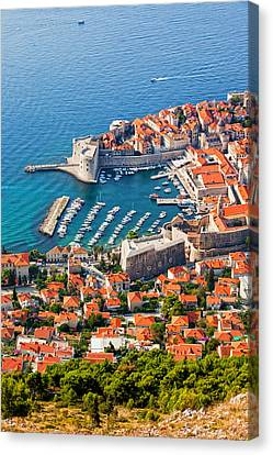 Dubrovnik From Above Canvas Print