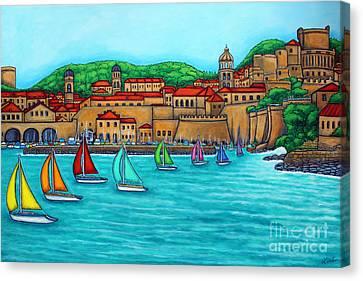 Dubrovnik Regatta Canvas Print by Lisa  Lorenz