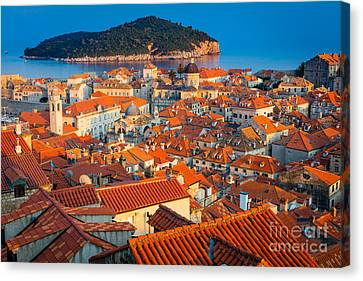 Dubrovnik Rooftops Canvas Print by Inge Johnsson