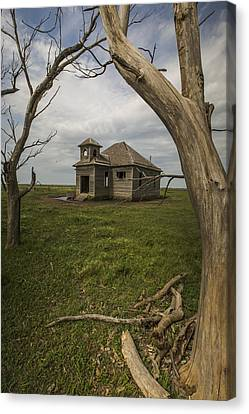 Dubuque One Room School House Canvas Print by Chris Harris