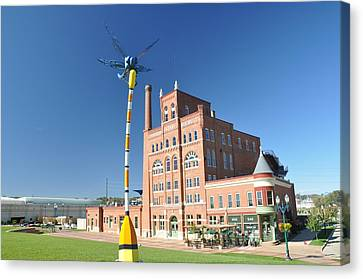 Dubuque Star Brewery With Fly Canvas Print