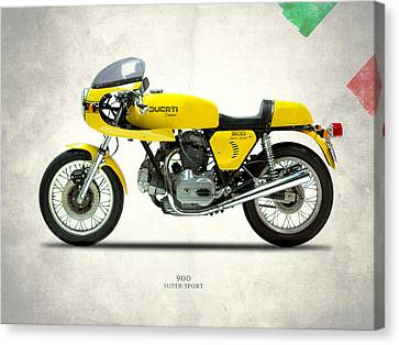 The 900 Super Sport 1977 Canvas Print by Mark Rogan