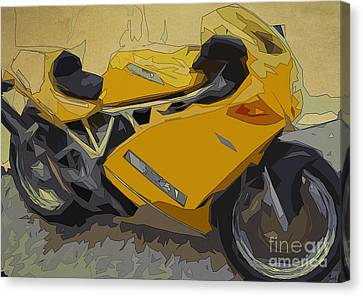 Ducati 900 Superlight Canvas Print by Pablo Franchi