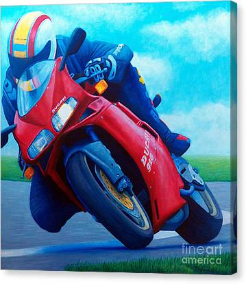 Ducati 916 Canvas Print by Brian  Commerford