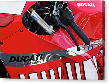 Ducati Desmosedici Abstract  Canvas Print by Tim Gainey