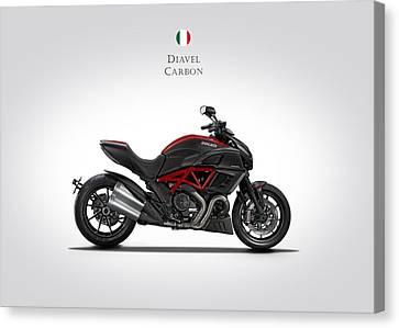 Ducati Diavel Carbon Canvas Print by Mark Rogan