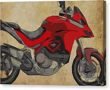 Ducati Multistrada 1200 2015 Canvas Print by Pablo Franchi