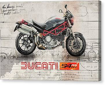Ducati S4rs Canvas Print by Yurdaer Bes