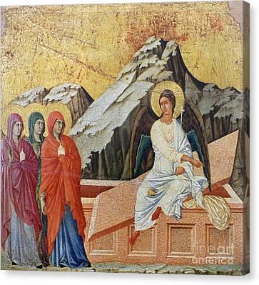 Duccio - Three Marys Canvas Print by Granger