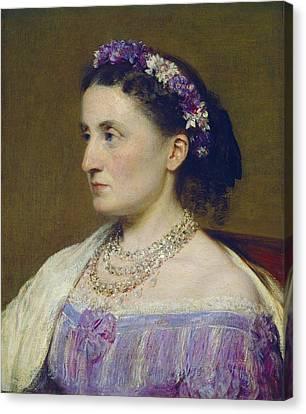 Duchess De Fitz-james Canvas Print by Henri Fantin-latour