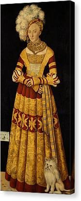 Duchess Katharina Von Mecklenburg Three Graces Canvas Print by Lucas Cranach the Elder