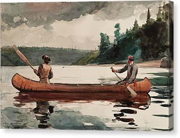 Duck Hunting Canvas Print by Winslow Homer