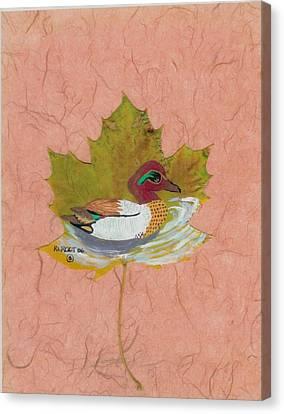 Duck On Pond Canvas Print