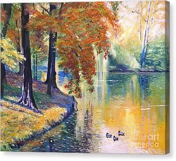 Duck Pond Canvas Print by David Lloyd Glover