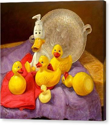 Canvas Print featuring the painting Duck Soap by Donelli  DiMaria