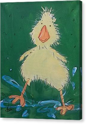 Duckling 1 Canvas Print by Terri Einer